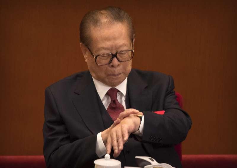 2017年10月18日,中共十九大在北京召開,江澤民(AP)