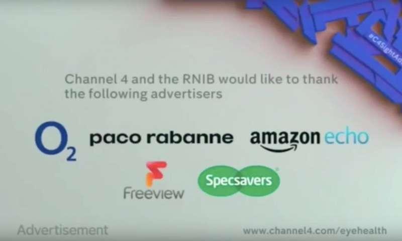 英國電視台廣告引人入勝,用趣味方式強調視力重要(翻攝自網路)