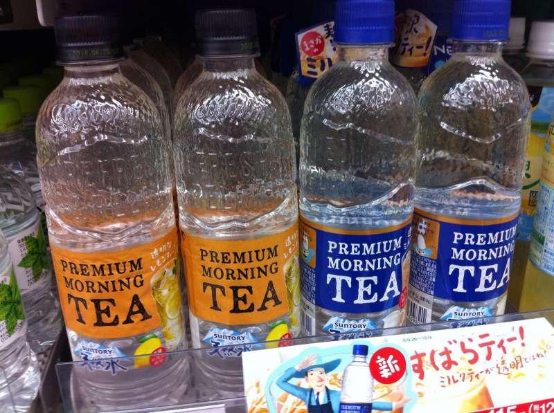 日本透明系列飲料。