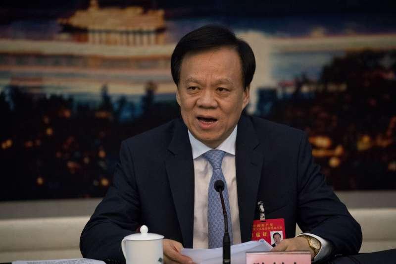 2017年10月19日,中共十九大進入第二天議程,重慶市委書記陳敏爾(AP)