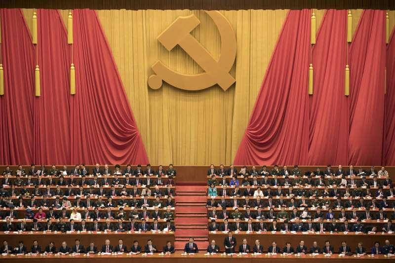 2017年10月18日,中共十九大在北京人民大會堂召開(AP)
