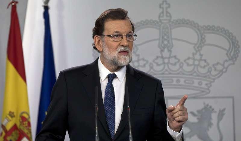 2017年10月21日,西班牙總理拉霍伊(Mariano Rajoy)宣布接管追求獨立的加泰隆尼亞自治區(AP)