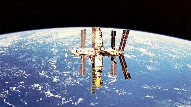 和平號太空站。(BBC中文網)