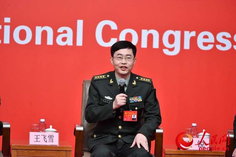 20171022-中共十九大,國防科技大學電子科學學院教授王飛雪。(取自中共十九大新聞中心)