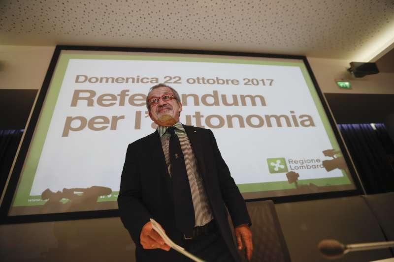 義大利地方公投:北部富裕大區倫巴底和威尼托爭取自治,圖為倫巴底大區政府主席馬洛尼(AP)