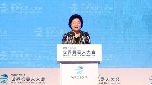 劉延東是政治局兩名女委員之一,預計十九大後會退休。(BBC中文網)