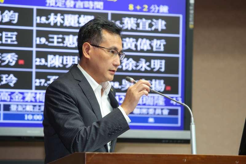 20171023-民進黨立委鄭運鵬23日於立院交通委員會質詢。(顏麟宇攝)