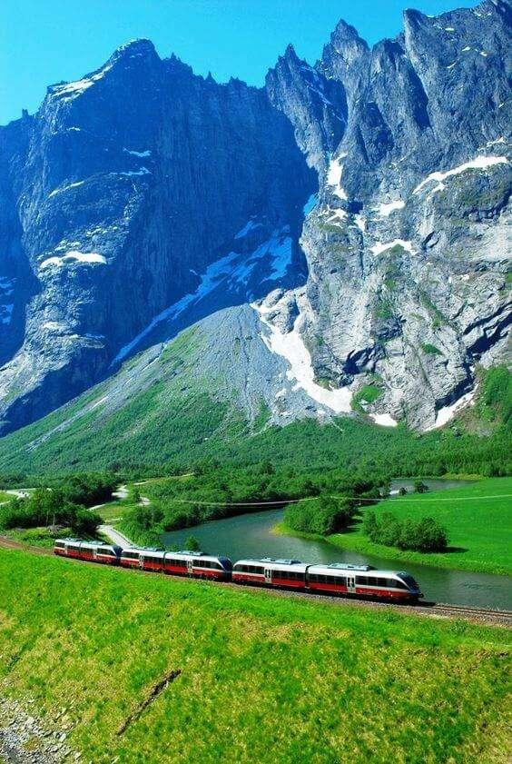 挪威卑爾根鐵路(圖/Pinterest)