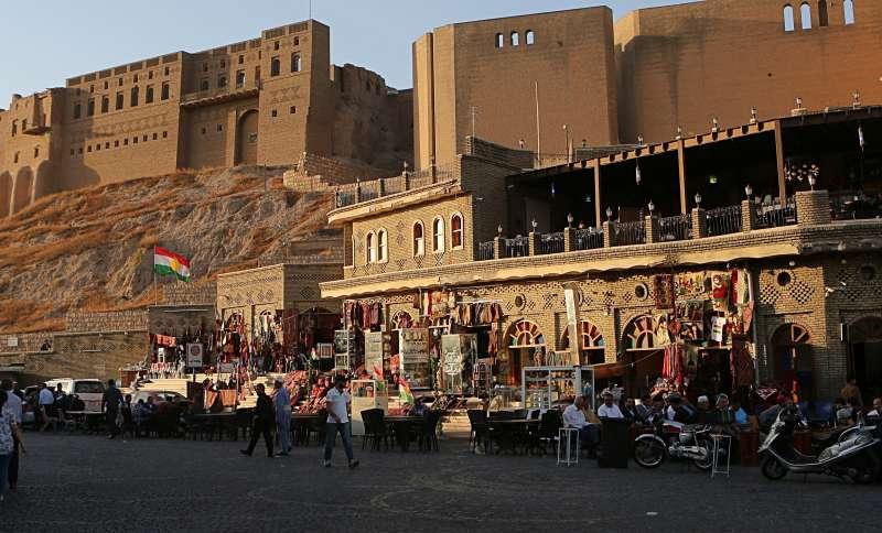 伊拉克軍隊拿下庫德族佔領的石油大城基爾庫克。(美聯社)