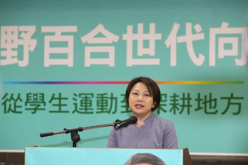 台大教授范雲出席農委會副主委翁章梁回鄉參選嘉義縣長記者會。(陳明仁攝)