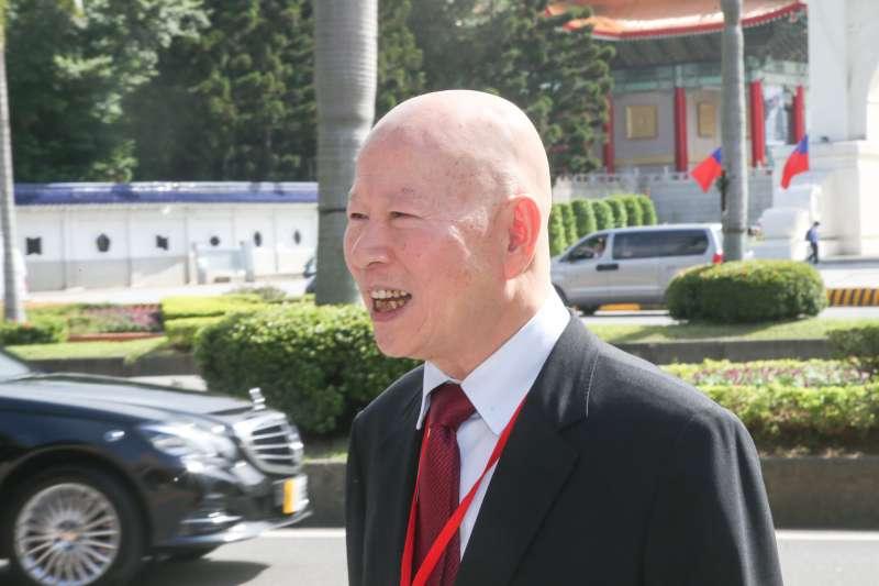 亞太和平基金會董事長許信良出席「兩岸交流30年回顧與前瞻研討會開幕典禮」。(陳明仁攝)