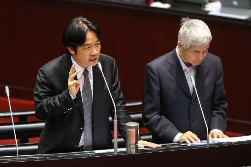 20171027-行政院長賴清德27日於立院備詢。(顏麟宇攝)