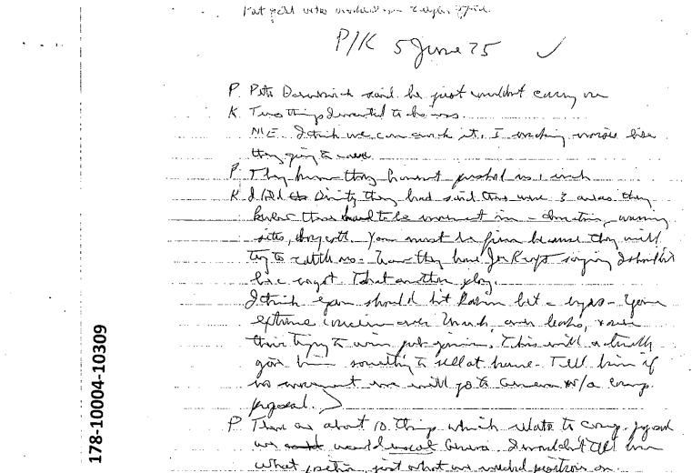 美國國家檔案局26日公佈近2900份甘迺迪遇刺案的機密文件,這是其中一頁(取自National Archives)