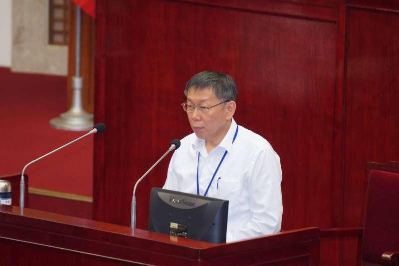 20171103-台北市長柯文哲赴市議會備詢。(盧逸峰攝)