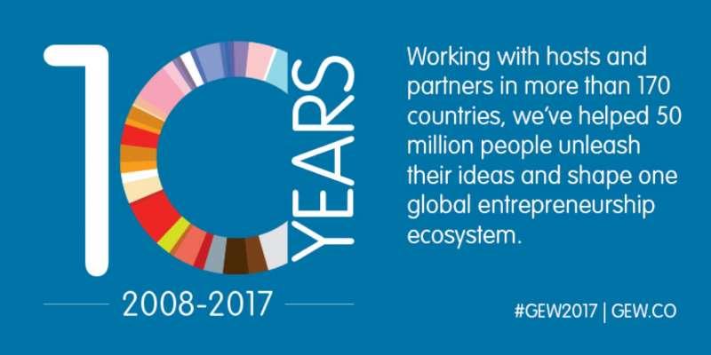 全球創業週即將於11:13(一)至11:19(日)展開為期一週的創業嘉年華」,藉由活動串聯,讓全世界感受到臺灣熱情的創業活力。(圖/Global Entrepreneurship Network)