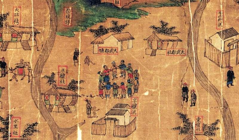 大肚番王的統轄圖中的大肚社、大武郡社、水里社等,是當時少數重創外來勢力的原住民族群。(圖/《解碼臺灣史 1550-1720 》,翁佳音、黃驗提供)