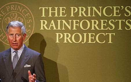 英國王儲查爾斯於2007年10月發起「王子雨林計畫」(AP)