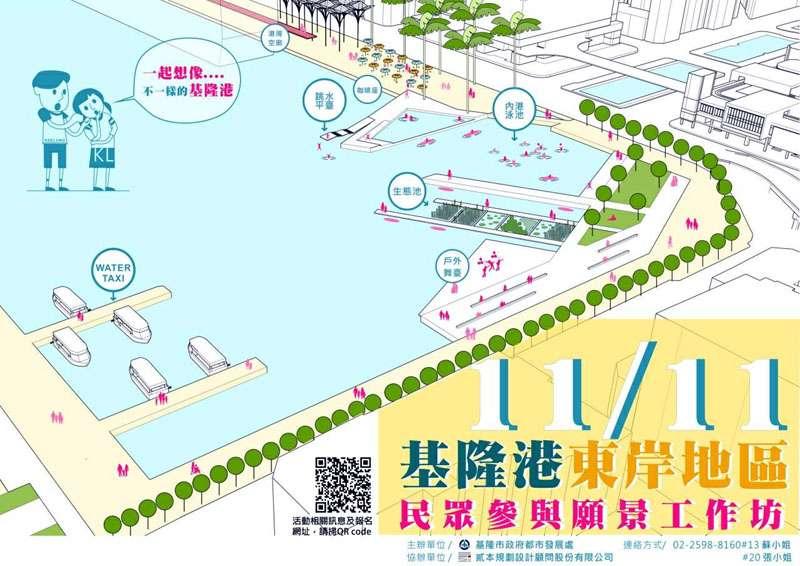 民眾參與願景工作坊的規劃及導覽路線。(圖/基隆市政府提供)