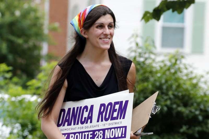 維吉尼亞州7日選出跨性別身份的州議員羅姆(AP)