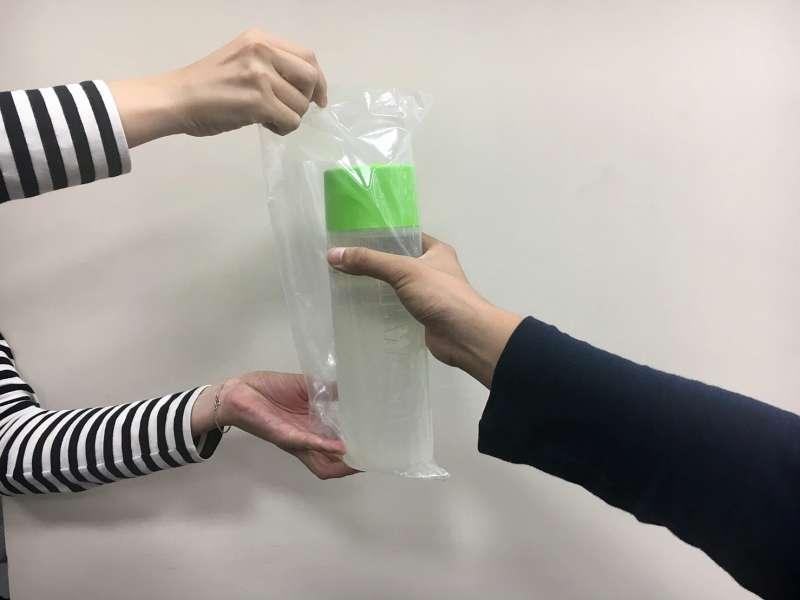 飲料塑膠袋(攝/鐘敏瑜)
