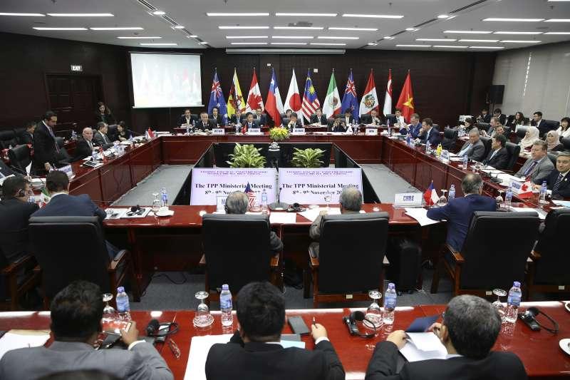 TPP的11個成員國貿易部長9日在APEC舉行場邊部長會議,11日宣布這11個成員國達成基本協議(AP)