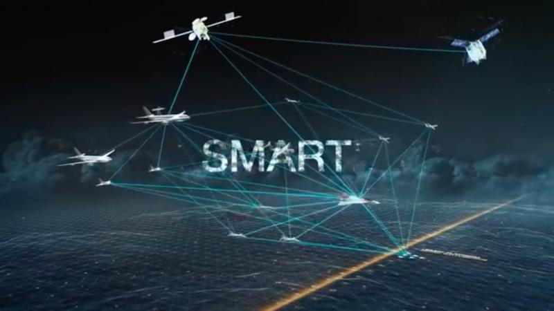 空中巴士釋出的未來戰機影片,強調與衛星、偵察機、無人機的協同作戰性能。(翻攝Youtube)