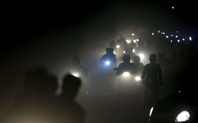 印度首都新德里空汙嚴重,宛如一個大型毒氣室。(美聯社)