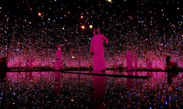 2015年的古根漢美術館開幕前展覽(圖/澎湃新聞提供)