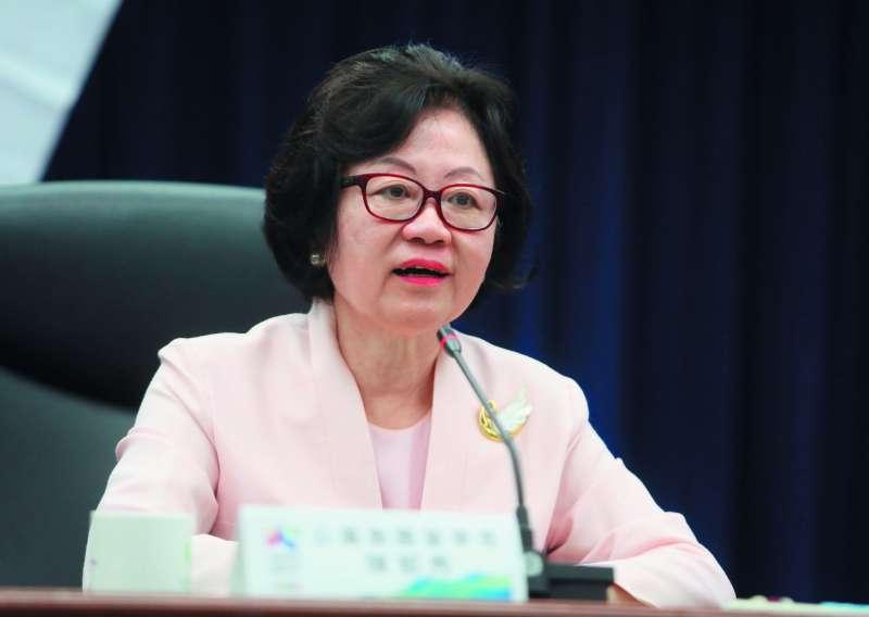 華視傳出董事長陳郁秀在董事會中一度情緒失控。(柯承惠攝)