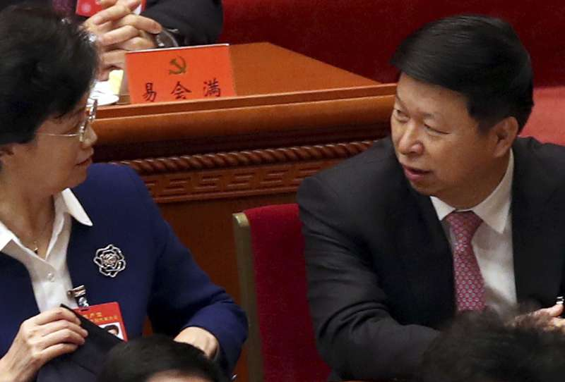 中共中央對外聯絡部部長宋濤(右)將出訪北韓(AP)