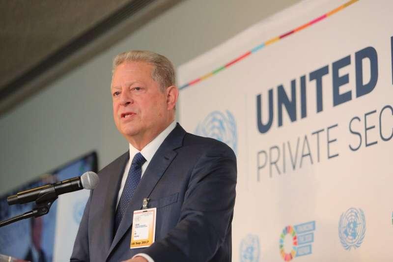 曾獲諾貝爾和平獎的美國前副總統高爾訪問台灣(Al Gore Twitter)