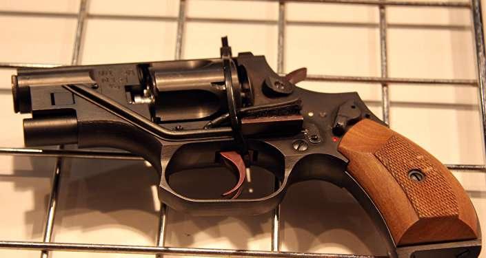 OTs-38微聲轉輪手槍。(俄羅斯衛星通訊社)