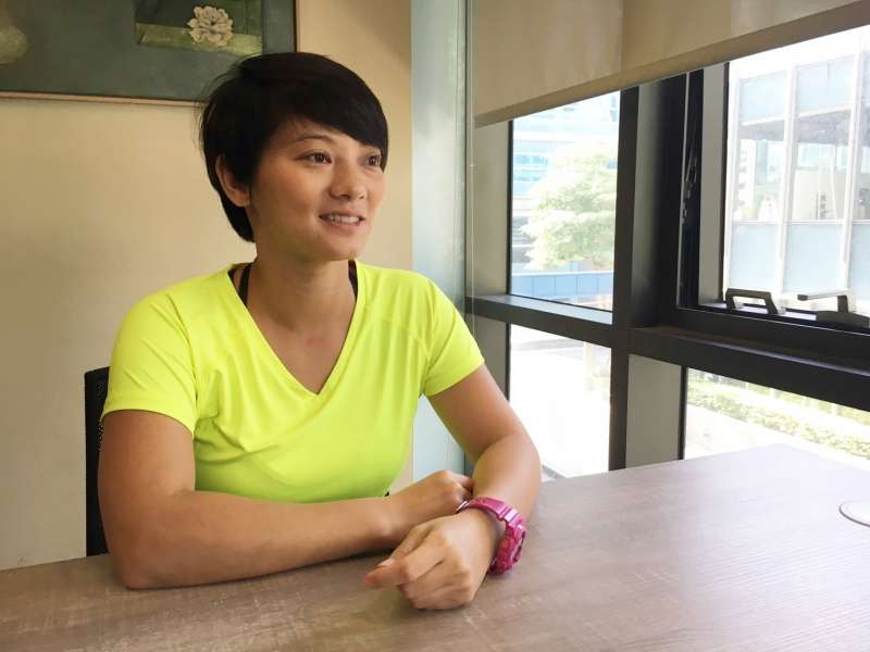 因為難忘運動的快樂,她辭掉保險工作,決定以運動為主業。(圖/鐘敏瑜攝)