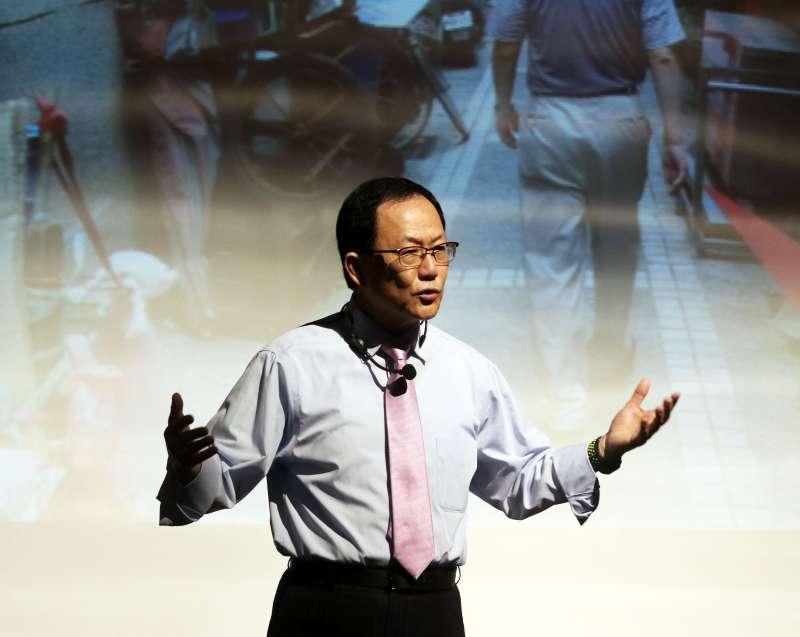 20171118-前立委丁守中參選台北市長說明會,會中說明自己的參選理念和對台北市的願景藍圖。(蘇仲泓攝)