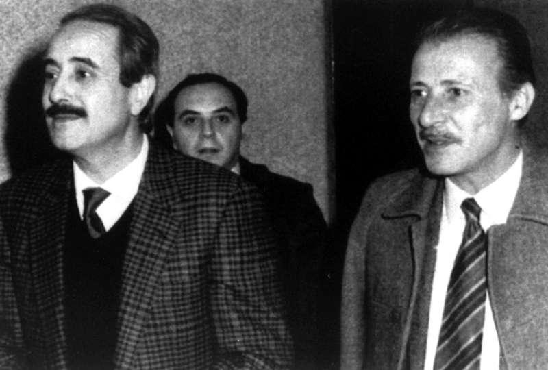 遭義大利黑手黨教父里納暗殺的法官佛爾康(左)與波塞里諾(AP)