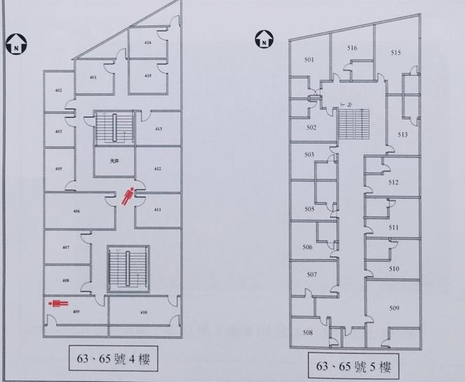 中和縱火案,該公寓頂加違建,於民國96年列管在案,但當時並沒有2層隔間出25間的情形。(圖/新北市消防局提供)