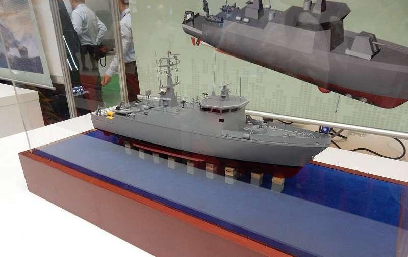 航太展拍到的獵雷艦模型照