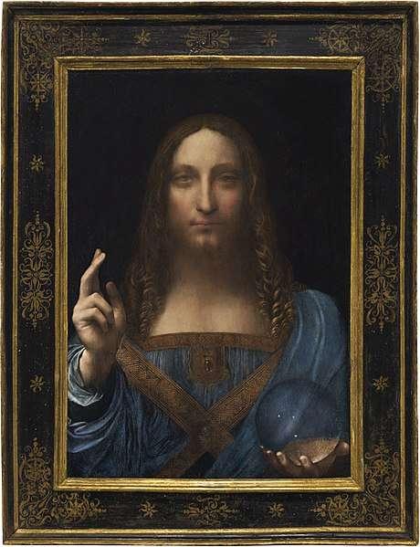 達文西《救世主》。(圖/取自Wikipedia)