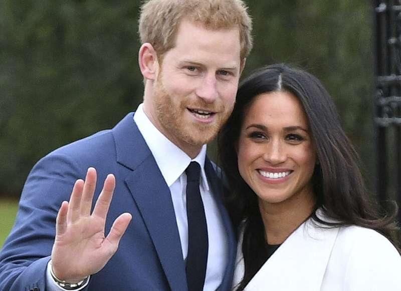 2017年11月27日,英國哈利王子宣布與女友梅根.馬克爾(Meghan Markle)訂婚(AP)