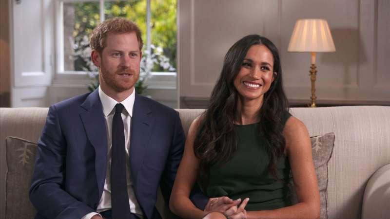 2017年11月27日,英國哈利王子宣布與女友梅根.馬克爾(Meghan Markle)訂婚,兩人在當天下午接受BBC訪問(AP)