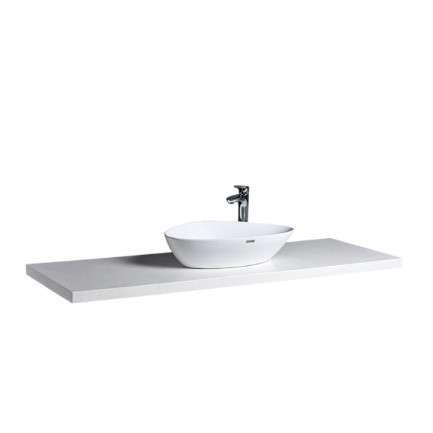 在浴廁空間中扮演重要角色的人造石面檯,可依照空間大小訂製不同的尺寸,省去用有限的空間比對市售現成產品的煩惱,再小、不規則的空間都進得了!(圖/OVO官方粉絲團)
