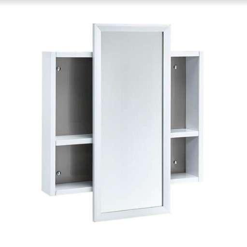 有著不同尺寸、能符合不同大小空間的活動式鏡面收納櫃,巧妙地將照鏡與收納功能結合,不占空間,可移動位置的鏡面依照使用者習慣微移,並且能更加輕鬆地拿取收納櫃中的物品。(圖/OVO官方粉絲團)