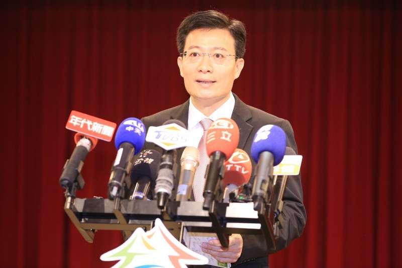 台中市環保局長白智榮展現對抗空汙、捍衛空品的決心與立場。(圖/王秀禾攝)
