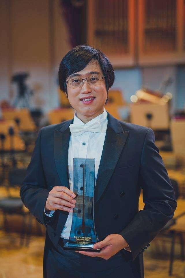 楊書涵榮獲第10屆波蘭費特伯格(Fitelberg)國際指揮大賽首獎。(取自台師大)