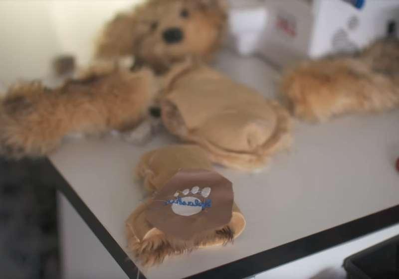 每一隻泰迪熊,都是男孩一針一線自己縫出來的。(圖翻攝自Youtube)