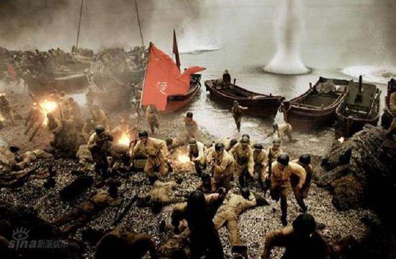 古寧頭戰役共軍近乎全沒。油畫。