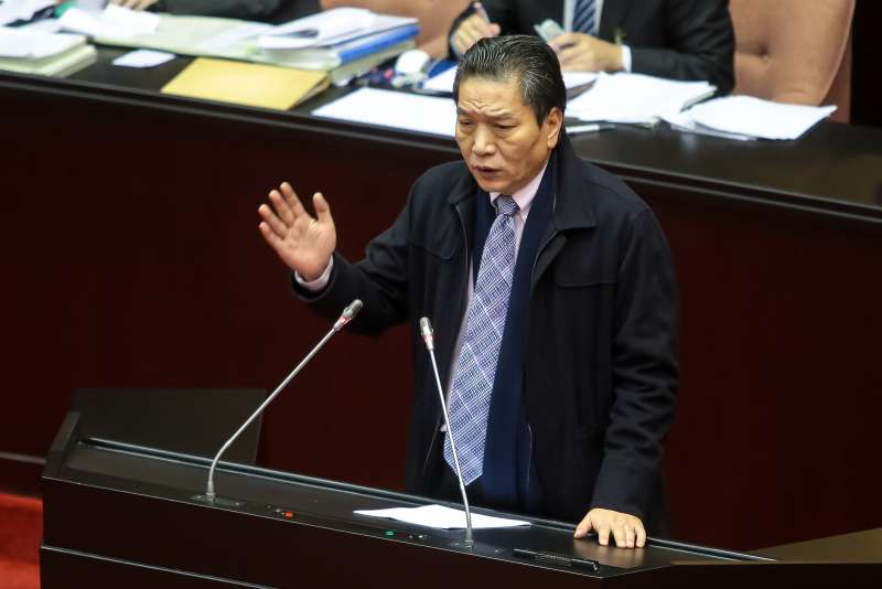20171205-親民黨總召李鴻鈞5日於院會處理「促進轉型正義條例草案」廣泛討論時發言。(顏麟宇攝)