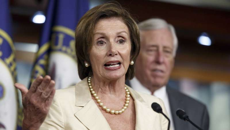 眾議院少數黨民主黨領袖裴洛西並不支持現在彈劾川普(美聯社)