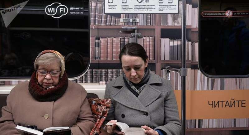 俄羅斯國民愛書成癡,近6成民眾每周至少閱讀一次。(ˋ俄羅斯衛星通訊社)
