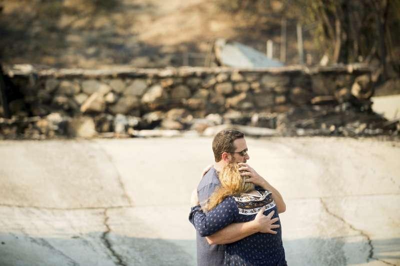 加州大火,加州野火肆虐。(美聯社)